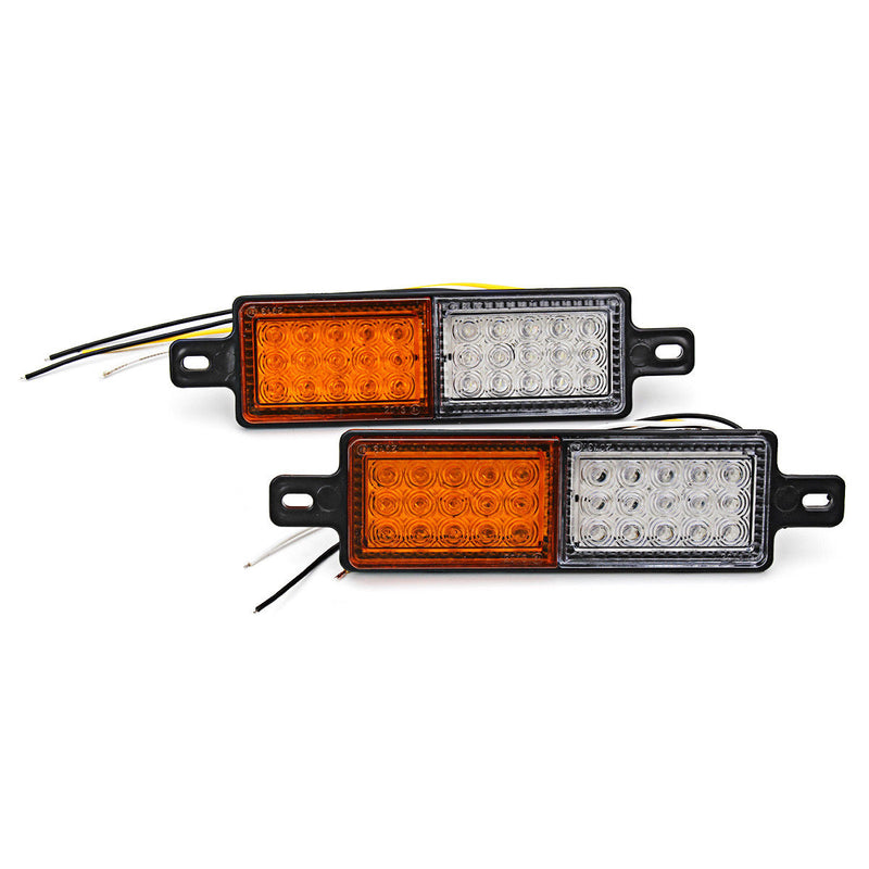 2 X Bullbar Front 30 LED Position Indicator 10-30V DC Park Light Side Marker Lamp - BrightSparkLedCo