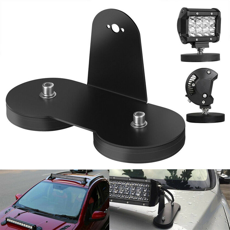 2X LED Light Bar Mounting Bracket Powerful Magnetic