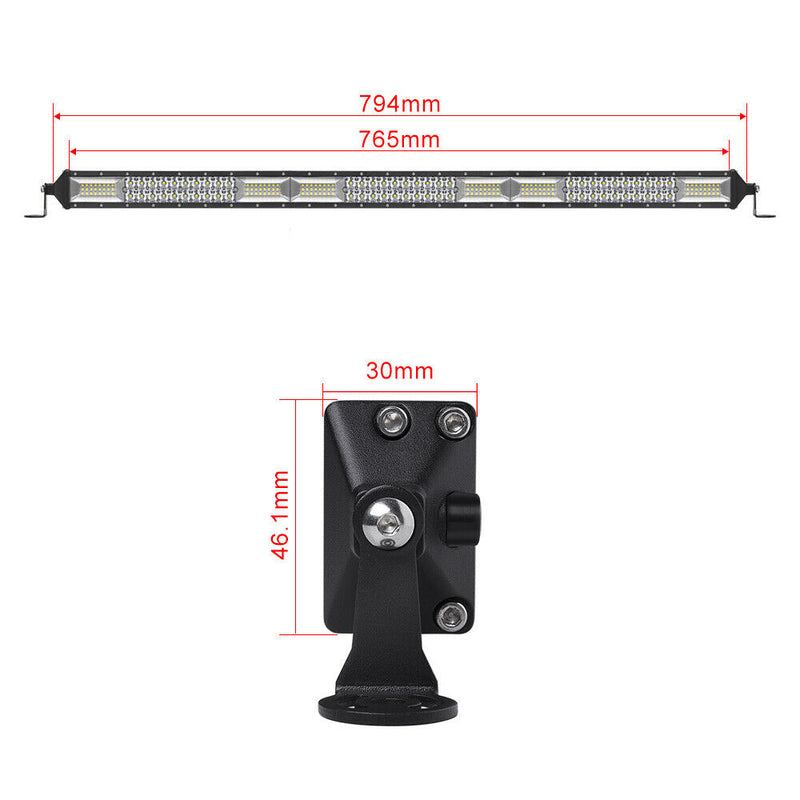 "32"" 7D Curved Led Light Bar & magnet Roof Mounts"