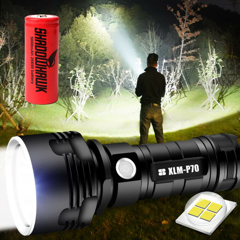 2020 Super bright 90000lm Flashlight CREE LED  Rechargeable
