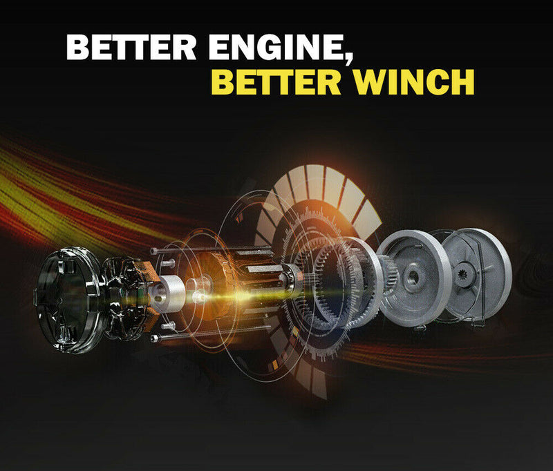 14500LBS 12V Electric Winch Steel Cable Wireless