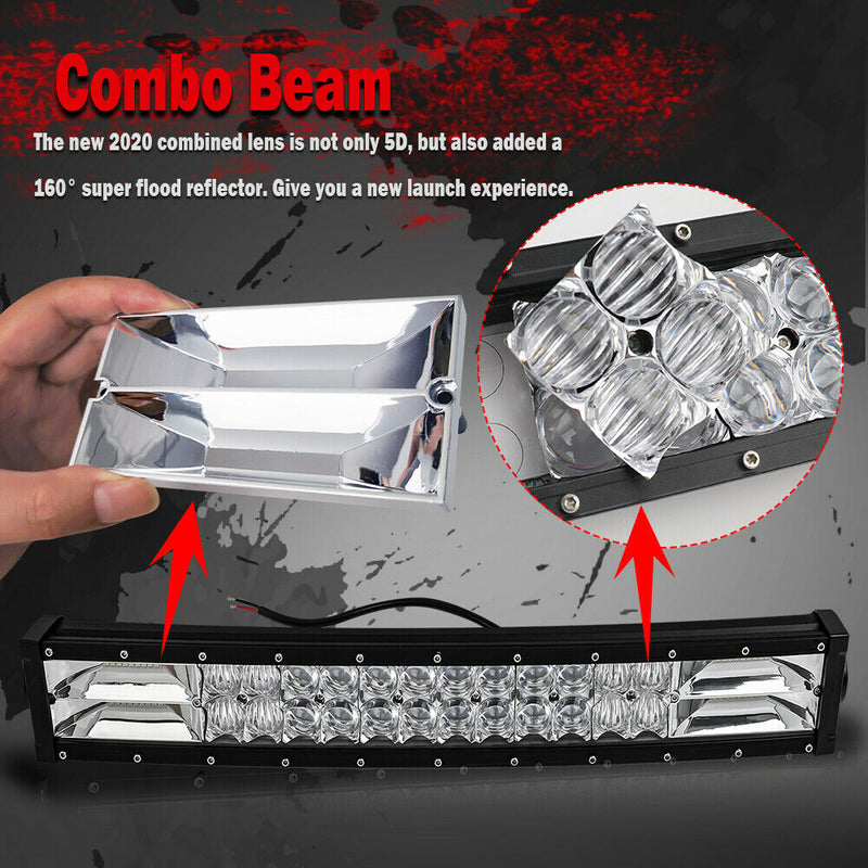 "42"" 7D Curved Led Light Bar & magnet mounts"