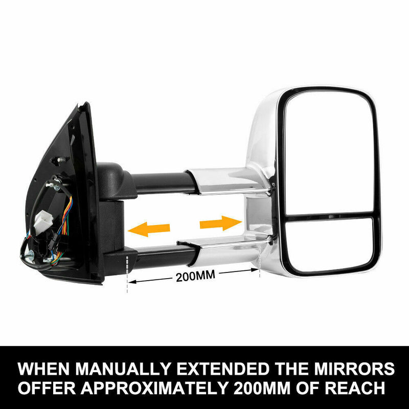 CHROME Pair Towing Extendable Side Mirrors,All Models