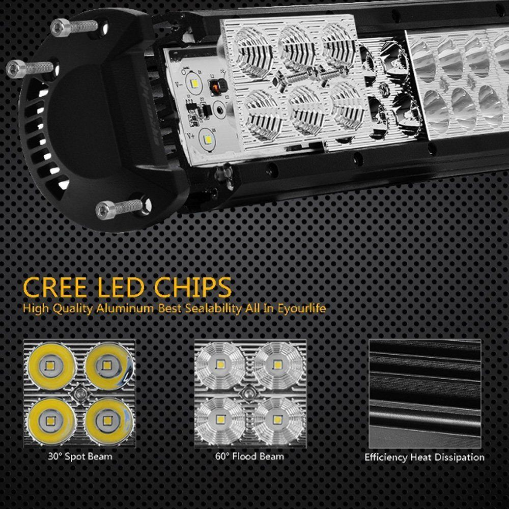 23 228 Watt Cree Led Light Bar And Wiring Harness For 52 Brightsparkledco