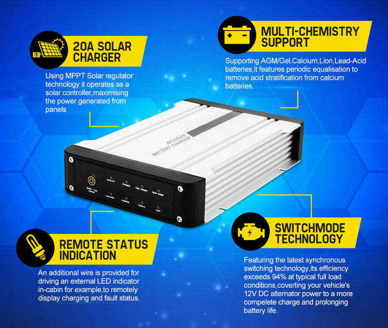 ATEM POWER 12V 20A DC to DC Battery Charger