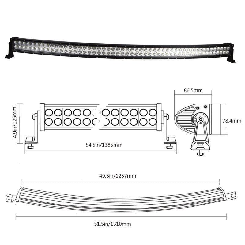 "52"" led Bar + 9"" Cree Led Spotlights +MORE - BrightSparkLedCo"