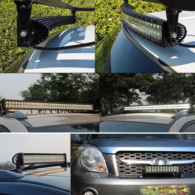 "52"" led Bar + 9"" Cree Led Spotlights +Free harness - BrightSparkLedCo"