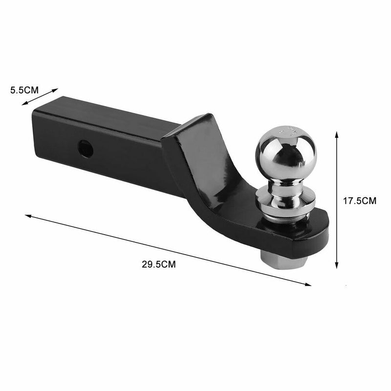 "Towbar Ball Mount Tongue Hitch 50mm 2"" Trailer"