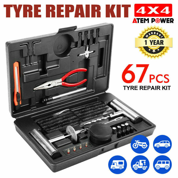 67PCS Tyre Puncture Repair Recovery Kit