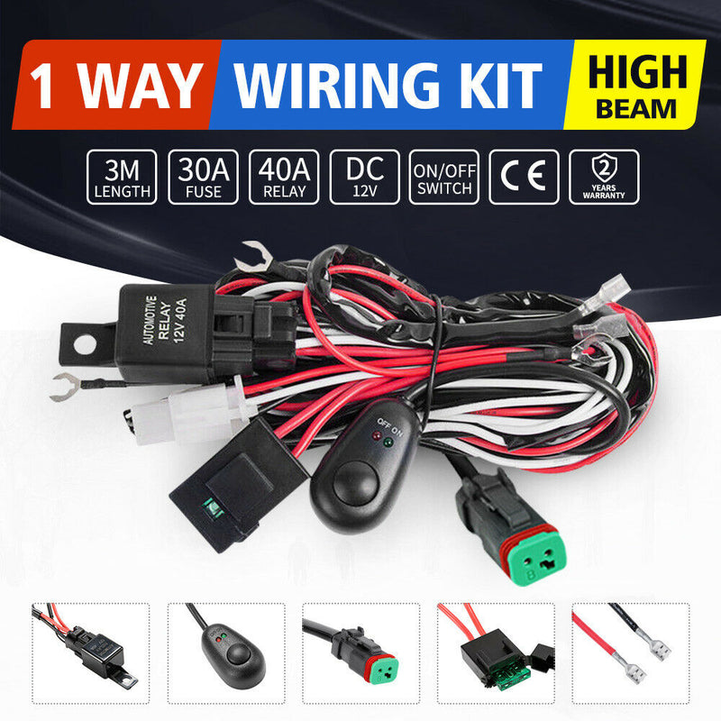 DT Wiring Loom Harness Kit Fuse Relay Switch