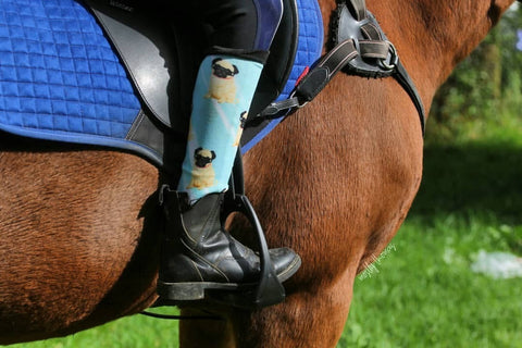 Pug Life Horse Riding Socks