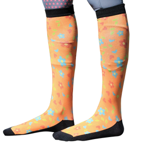 'Blossom and Bloom' Horse Riding Socks