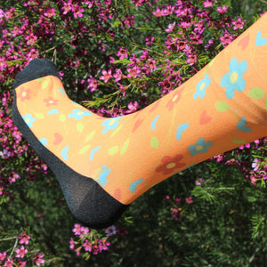 'Blossom and Bloom' Horse Riding Socks Apricot