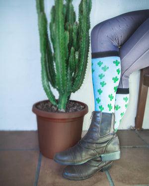 Knee High Cactus Socks