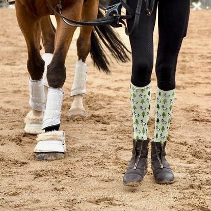 'Christmas Unicorn' Horse Riding Socks