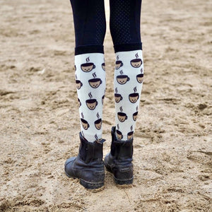 Coffee break equestrian socks