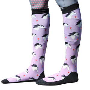'Duns n Roses' Horse Riding Socks