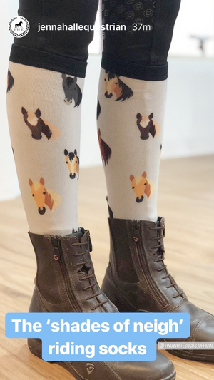 Horse head riding socks