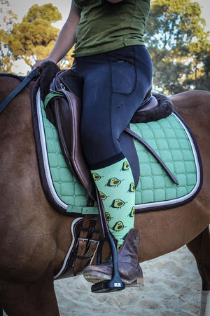 Equestrian Horse Riding Socks Green