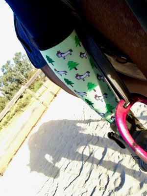Christmas Horse Riding Socks