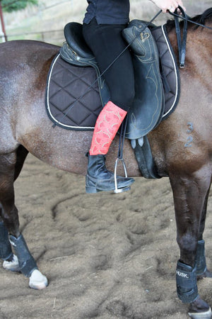 Watermelon equestrian boot socks