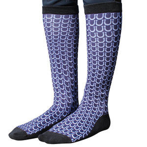 Navy Blue Horse Shoe Socks