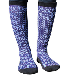 Navy Horse Shoe socks