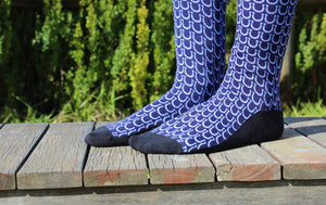 Navy Blue Horse Show Socks