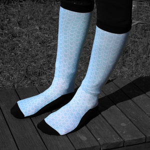 Equestrian Pale Blue Show Socks