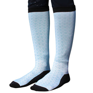 Horse Shoe Ice Blue Equestrian Socks