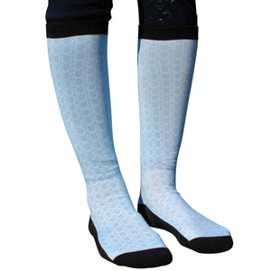 Pale Blue Show Horse Riding Socks