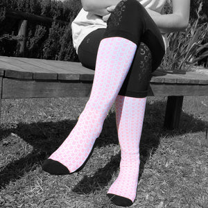'Pale Pink Shoe' Horse Riding Socks