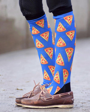 Pizza equestrian socks