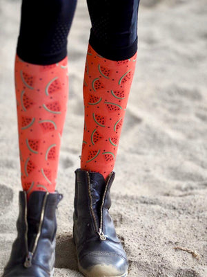Seedy Watermelon Red Riding Socks