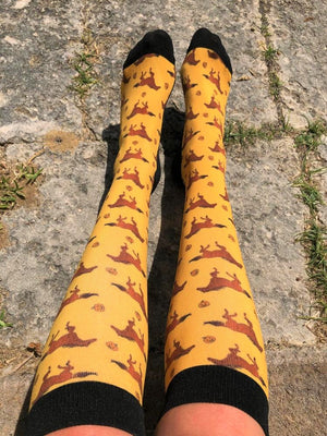 Spooky Mare Orange equestrian socks