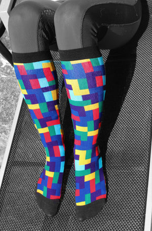 'Terrific Tetris' Horse Riding Socks