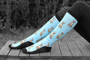 Whippet Dog Horse Riding Socks