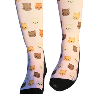 'Crazy 4 Cats' Horse Riding Socks