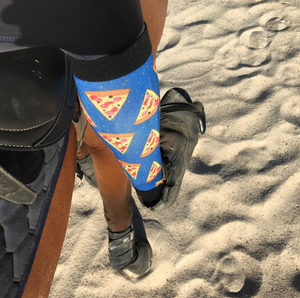 'Pizza Passion' Horse Riding Socks