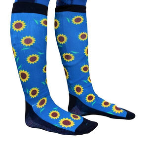 'Bloomin Sunflower' Horse Riding Socks
