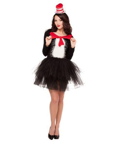 Adult Cat in the Hat Tutu Dress