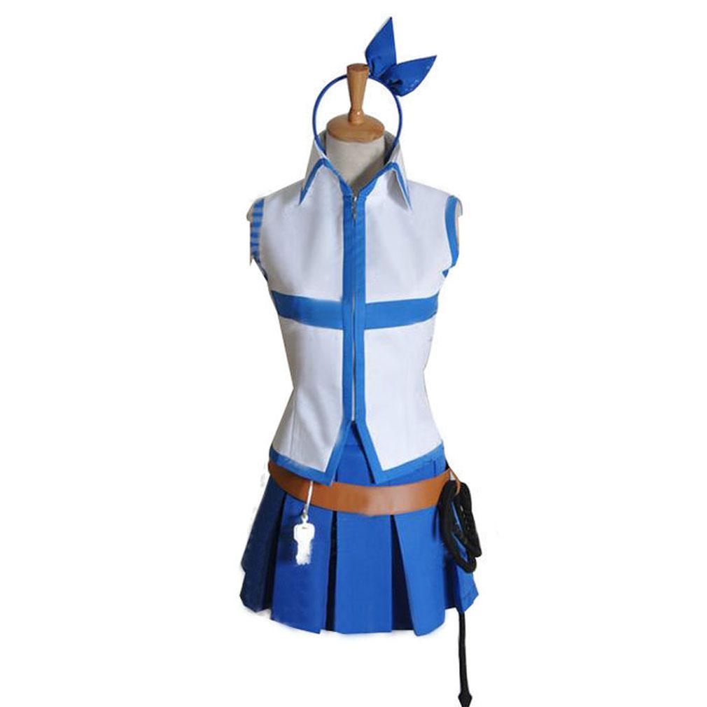Fairy Tail Lucy Heartfilia Cosplay Costumes Girls Uniforms