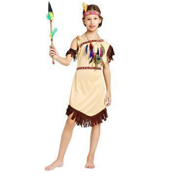 Halloween Hunter Costume Indian Native Kids Halloween Cosplay Stage Outfit
