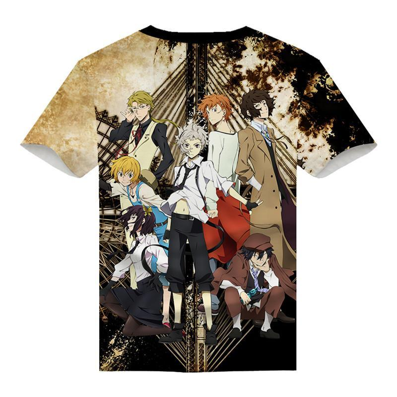 Bungo Stray Dogs T-Shirt Costume Unique Design Fashion Tee