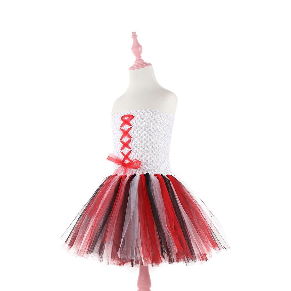Girls Cute Pirate Cosplay Costume Tutu Dress Halloween Fancy Party Dress Carnival Pirates of the Caribbean Costume