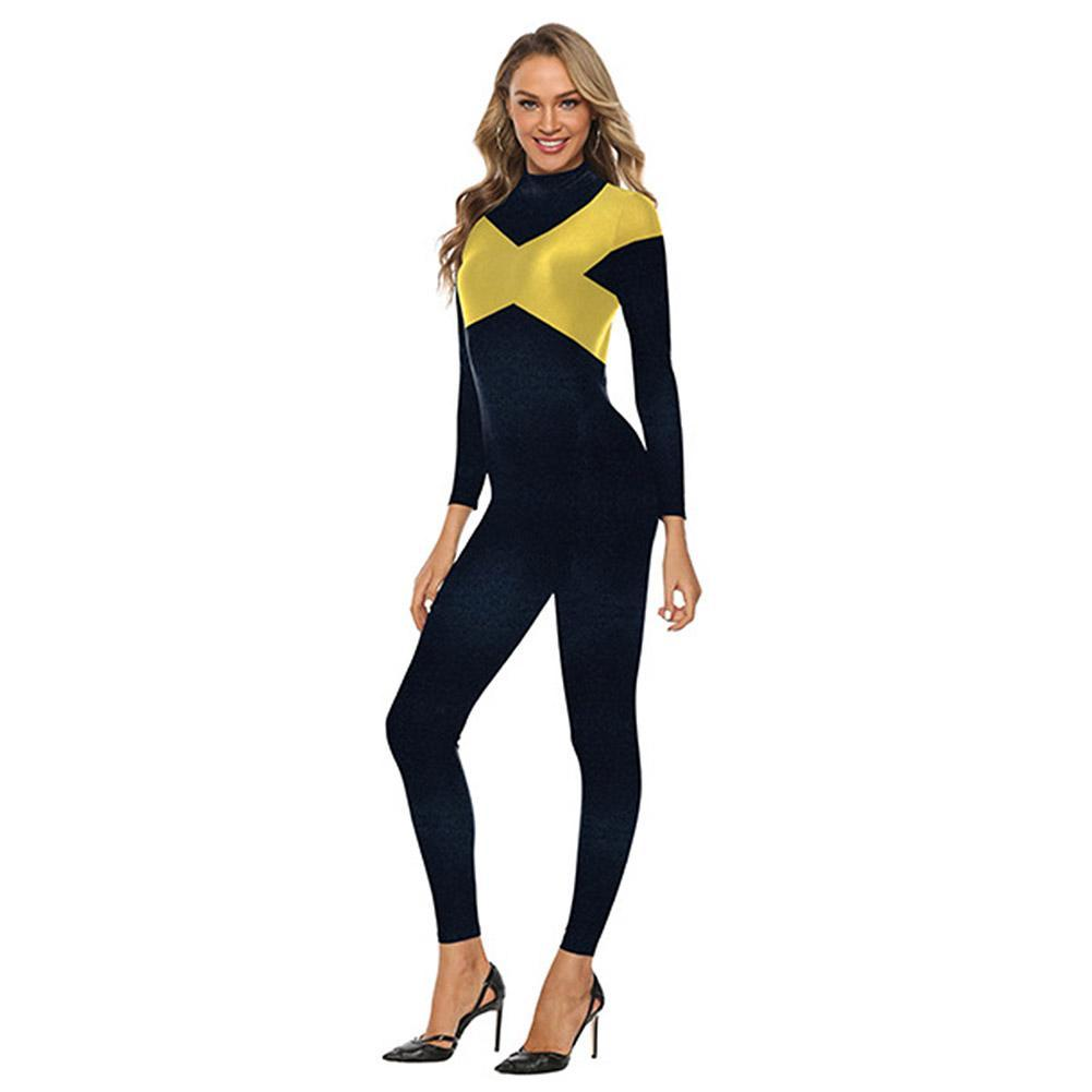 Halloween Women X-men Dark Phoenix Cosplay Cosutme Superhero Bodysuit Jumpsuit