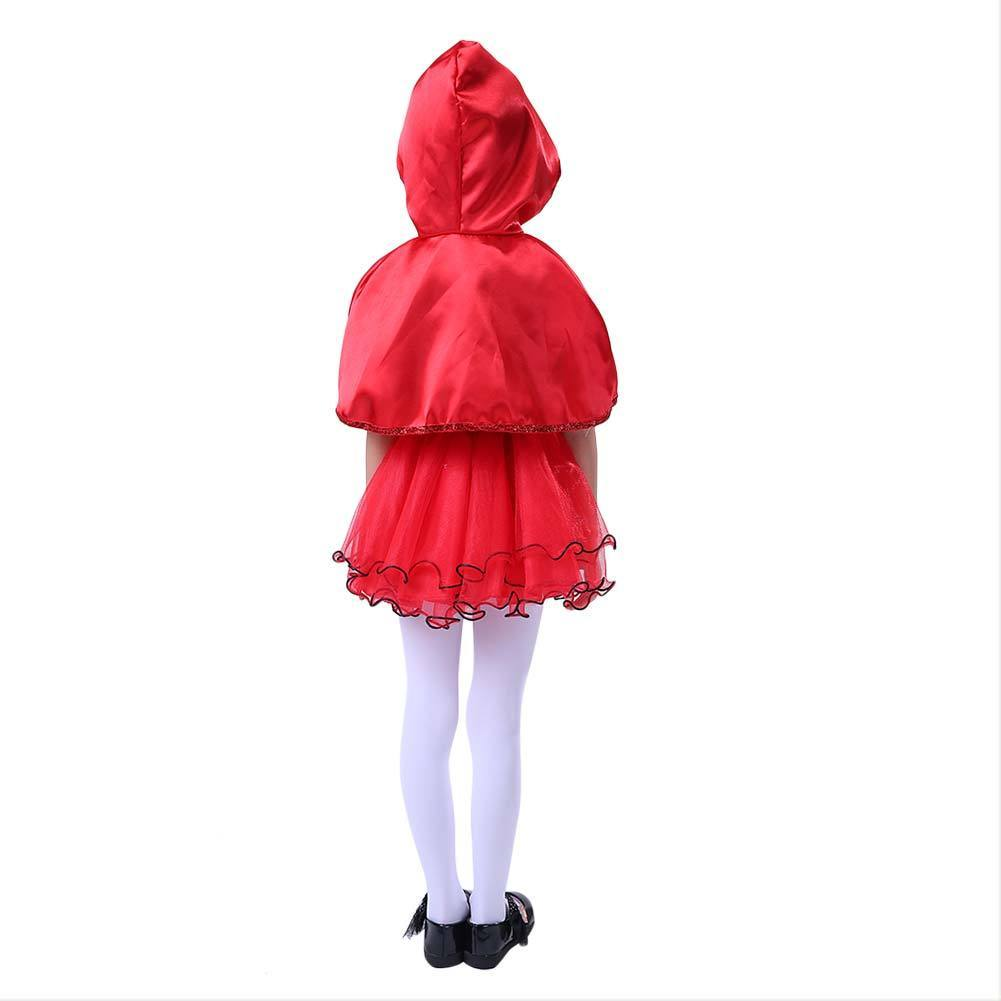 Halloween Red Riding Hood Girls Fancy Dress Fairytale Book Week Kids Childs Cosplay Costume