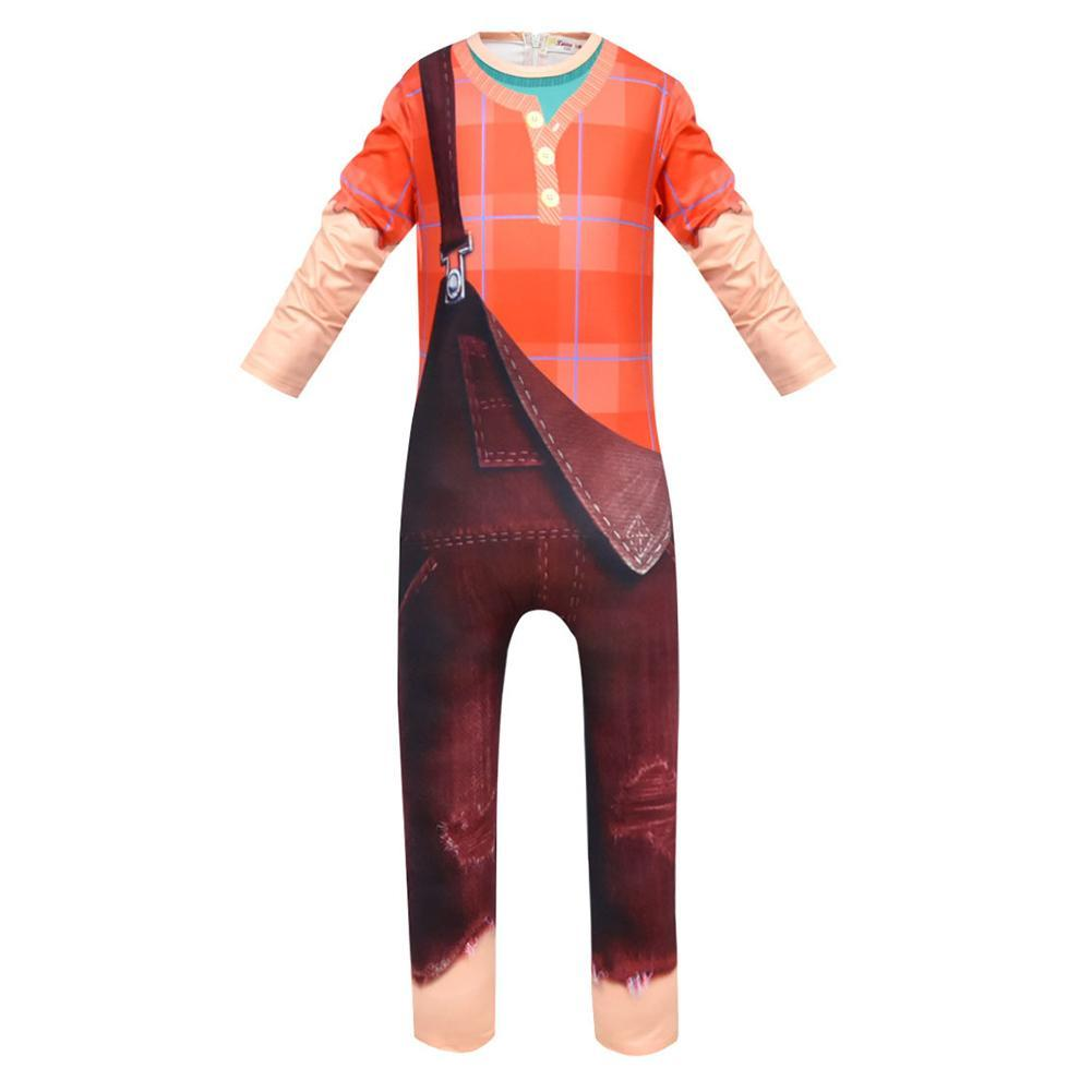 Kids Halloween Wreck It Ralph Jumpsuit Cosplay Suit