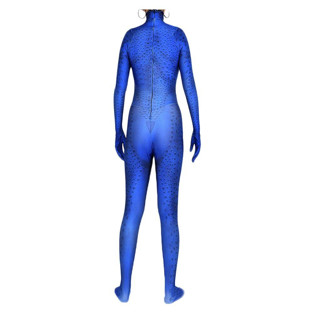 Women X-Men Mystique Cosplay Blue Female Tights Costume For Role Play Halloween Party