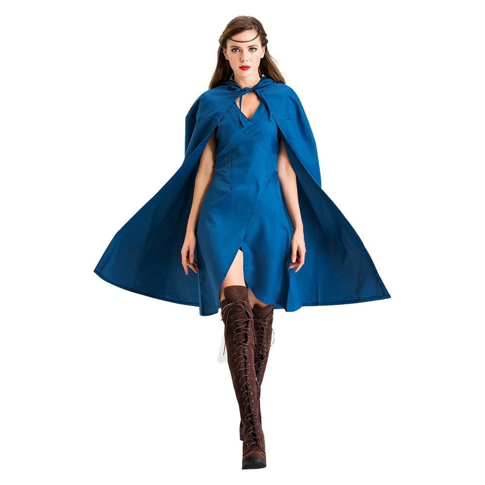 Halloween Game of Thrones Daenerys Targaryen Dragon Queen Cosplay Costume Women's Dress